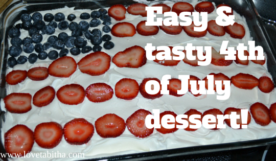 Easy and tasty 4th of July dessert! #recipe