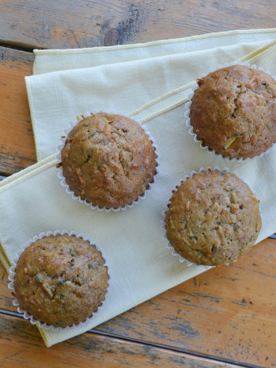 Zucchini, Apple and Carrot Muffins