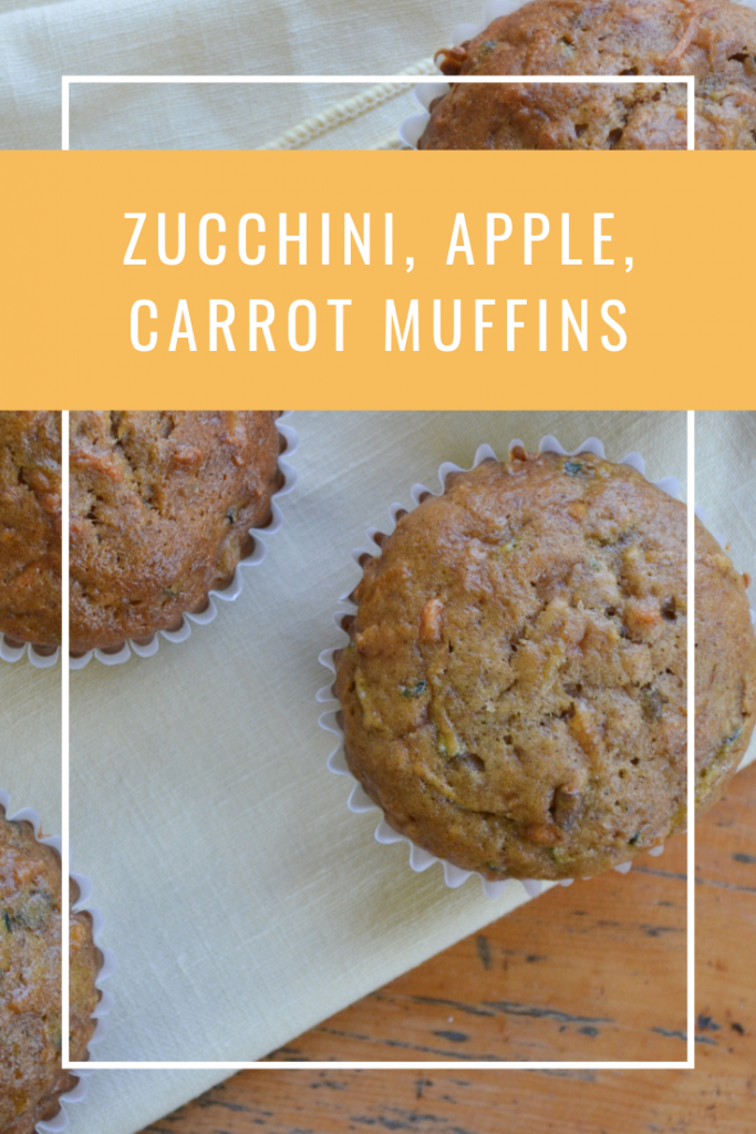 These Zucchini, Apple, Carrot Muffins are amazing and perfect for breakfast, snack or a dessert.