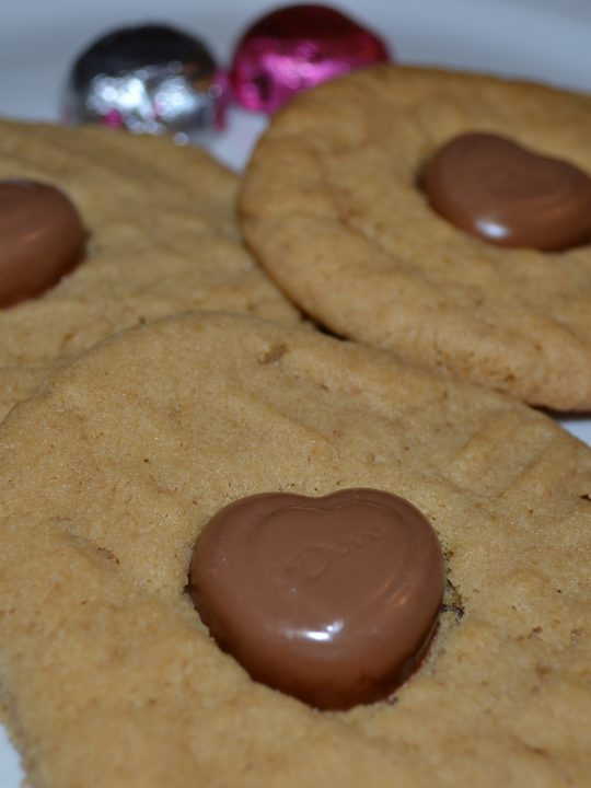 Peanut Butter Heart Cookies for Valentines Day