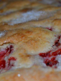 breakfast cake strawberry lemon