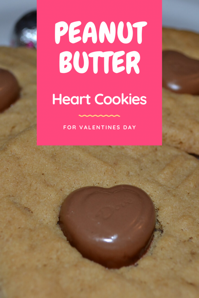 Recipe for Peanut Butter Heart Cookies, perfect for Valentines Day.