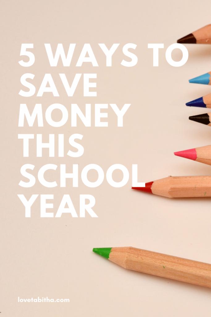 Ways to save money this school year