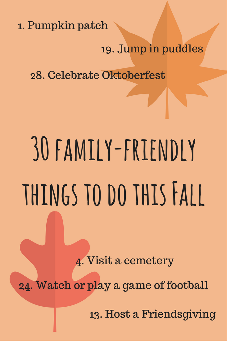 30 family-friendly things to do this Fall