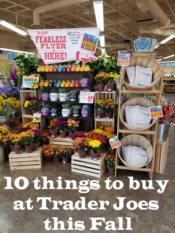 10 Things to buy at Trader Joes this Fall!