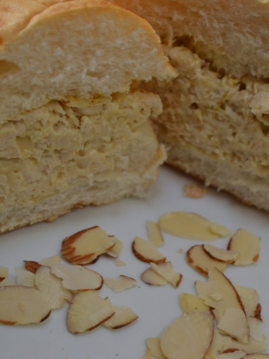 Curry Chicken Sandwich with Almonds