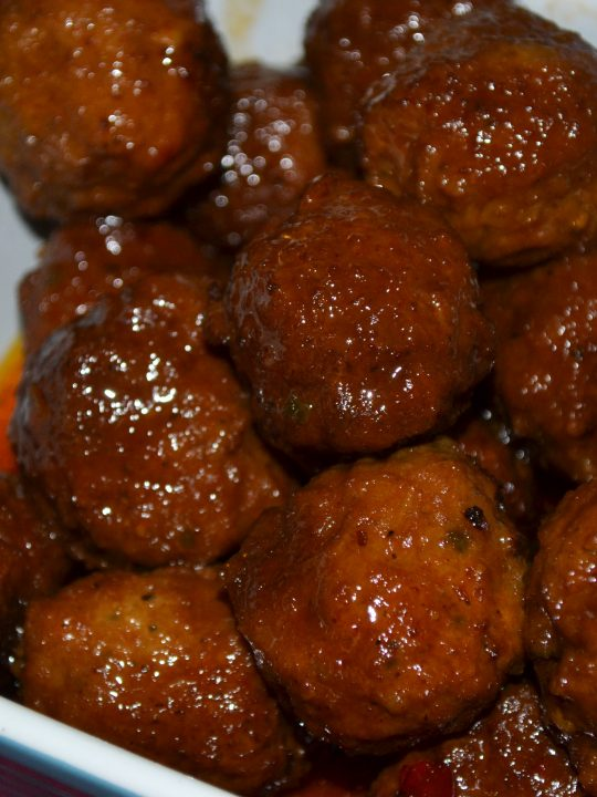 Slow Cooker Sweet & Tangy Meatballs
