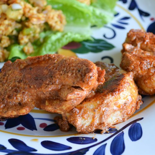 My family enjoys this Turkish Style Chicken either fried on the stove top or as kebabs on the grill!