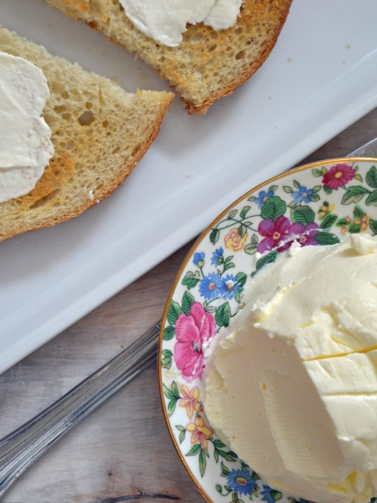 Easy Homemade Butter in the Food Processor