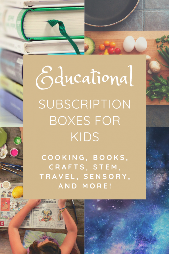 List of educational subscription boxes for kids! Keep those kids entertained and learning at home with these fun and exciting boxes that come in the mail. #subscriptionboxes #education #homeschool #distancelearning