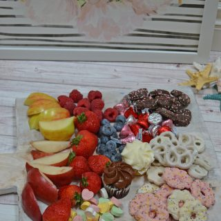 Valentine's Day Dessert Charcuterie Board pairs great with dinner! Easy to make & perfect way to celebrate the holiday of love.